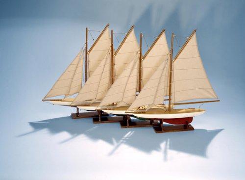 Authentic Models Mini Pond Yachts, Set of 4