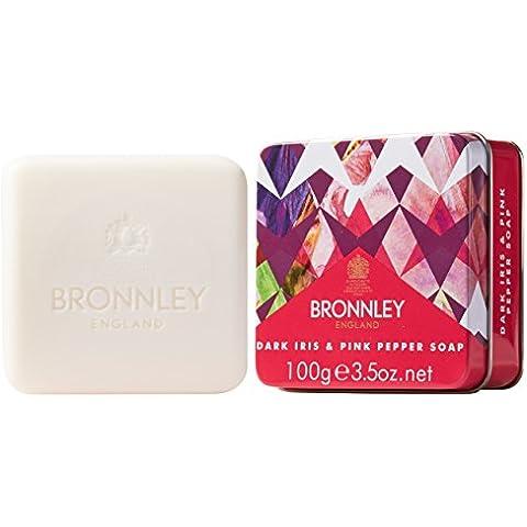 Bronnley Jabón Tin, Iris Oscuro y pimienta rosa