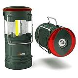 EMPO LED Camping Laterne für den Außenbereich und Notfälle - Ultra hell, langlebig, und komplett zusammenklappbar - Magnetische Laterne, Notfall-Leuchte und Blinklicht in Einem - Olive grün