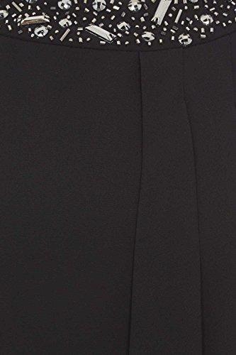 Roman Originals - Robe Droite Avec Col Perlé - Noir Noir