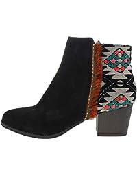 Damen Stiefelette INDIAN warme Schnee Boots Stiefel