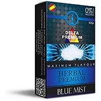 FumandoEspero Hierbas Premium Delta para shisha SIN NICOTINA - Sabor: Blue Mist (50 gr) - Sustitutivo de tabaco sin nicotina para cachimba