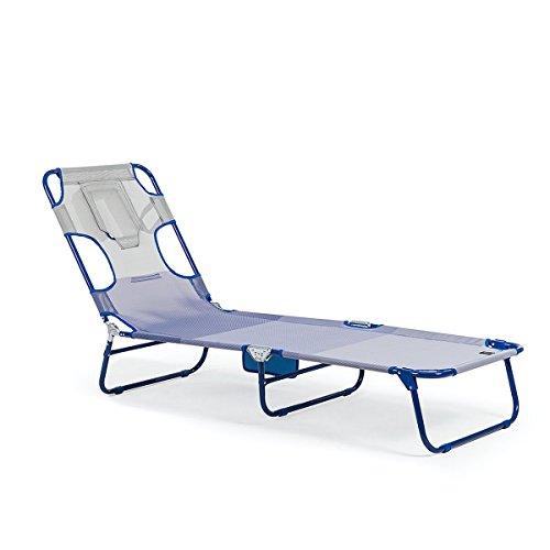 Homekraft BALI Extra Sonnenliege Strandliege Gartenliege Relaxliege Liegestuhl (Blau)