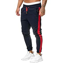 Pantalones Chandal Hombre,Pantalones de chándal, YanHoo Hombres Pantalones de chándal Pantalones Casuales elásticos