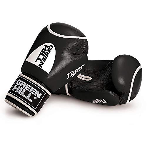 Green Hill Tiger Boxhandschuhe Unisex Erwachsene Handschuhe, Unisex - Erwachsene, BGTC-2010, Schwarz, 12 oz
