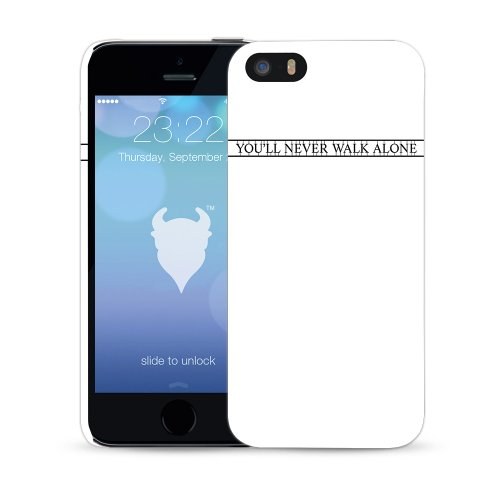 MediaDevil Grafikcase Apple iPhone 5 / 5S Hülle: Ultra Slim Edition - Blue Galaxy (Glänzend) Art of Sport: Liverpool
