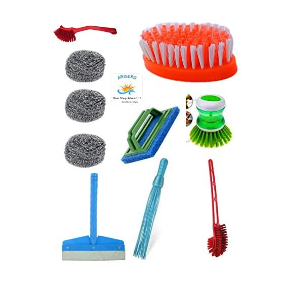 Arisers All Type bathroom cleaning brushes, wiper ,scrub and get free clothing brush