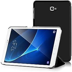 Samsung Galaxy Tab A 10.1 Funda Case - IVSO Slim Smart Cover Funda Protectora de Cuero PU para Samsung Galaxy Tab A 10.1 2016 Tablet(Negro)