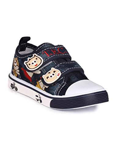 Good Premium Quality Comfortable Designer Blue Cartoon Print Double Velcro Casual Party Wear Sports Running Shoes Sandals For Kids Boys And Girls