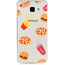 KSHOP Etui cas TPU Silicone pour Samsung Galaxy A5(2016)A510 Coque Case Cover Housse de protection Shell avec mince motif d'impression - frites Hamburger Français coke Pizza