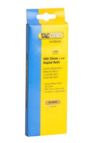Tacwise 0482 Nägel Gewinkelt Verzinkt ( 500/35mm,1.000 Stück pro Verpackung)