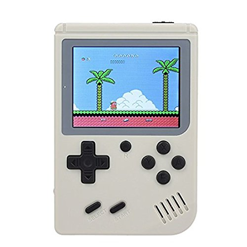 Queta Retro Mini FC Handheld Game Boy Game Konsole Schutz Nostalgie Geschenk PSP Eingebauter Akku weiß weiß 14 * 10 * 5.3cm (Handheld-spiel-konsole)