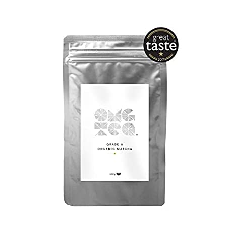 Organic Matcha Green Tea Powder - Premium Japanese A Grade Premium Matcha 100g Bag - GREAT TASTE AWARD 2017 - Perfect for Tea, Latte, Smoothies, Ice Cream - Increase Energy - Boost Metabolism - Improve Mental