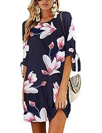 Amazon.it  Vestito donna a mezze maniche - Donna  Abbigliamento b3778e0a90c