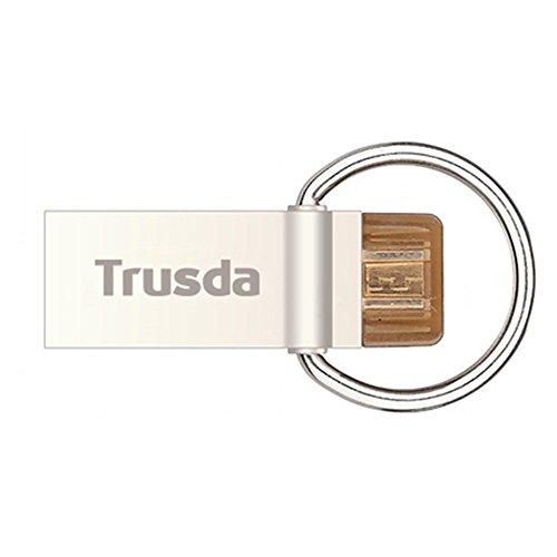 Trusda DataTraveler V90 32GB Dual USB Flash-Laufwerk OTG Speicherstick (USB3.0 und Micro-USB stick) für allen OTG-fähigen Geräten, Tablets und Smartphones