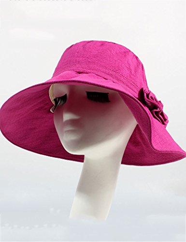 Été féminin Crème solaire Pliable Bouchon vide Grand brim chapeau Loisir Anti-UV chapeau de soleil ( couleur : 3 ) 2