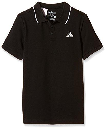 Preisvergleich Produktbild adidas Jungen Essentials Polo T-Shirt, Schwarz/Weiß, 128, S23234