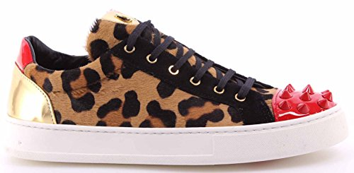 Sneakers Limited Pony Gold Italy Leopard Zapatos New Roberto Mujer Botticelli 8O0mvNnw