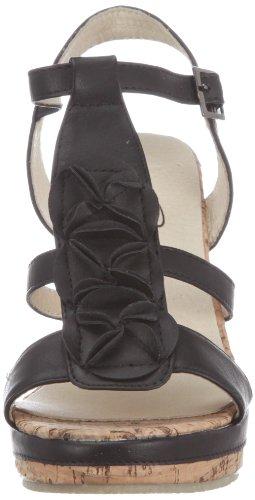 SPM Bastille GS1041004-B-004, Sandali donna Nero (Schwarz (Black))