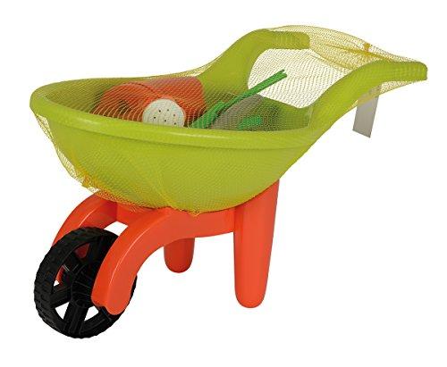Simba 107137758 - Schubkarre mit Gartenwerkzeug, grün / orange - Kleinkind Günstig Spielzeug