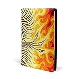 Mythical Phoenix Oiseau couverture en cuir pour cahiers d'école, de bureau, cahiers de texte Couverture rigide A5 14,7 x 22,1 cm pour filles et garçons