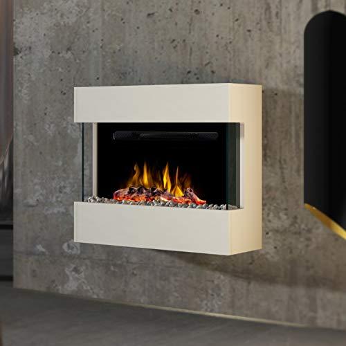 Noble Flame Lima Chimenea [eléctrico de diseño Moderno de Pared]: con acrílico...