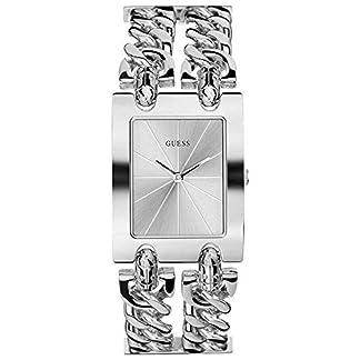 GUESS Reloj Analógico para Mujer de Cuarzo con Correa en Acero Inoxidable W1117L1