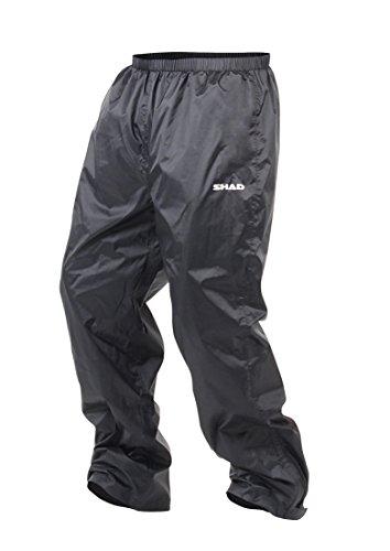 SHAD X0SR20XXL Pantalón de Lluvia, Negro, Talla S