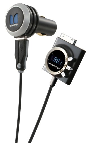 Monster iCarPlay Wireless 1000 FM-Transmitter für iPhone/iPod (Autoscan-3D-Technologie, Ladefunktion) (Ipod Cable Fm-transmitter Monster)