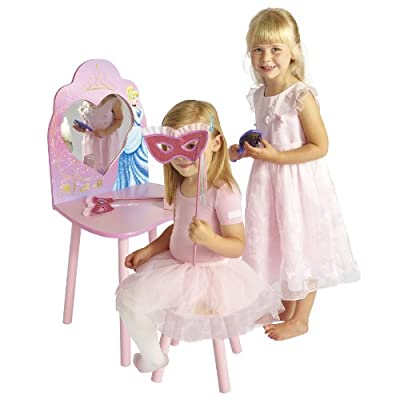 Disney Princess Dressing Table and Stool by HelloHome - cheap UK light store.
