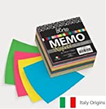 Campap Elle Erre Memo refill( assorted colours), 90 X 90 mm, Italy origin - 220 gsm - 100 sheets