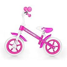 Bicicleta sin pedales para niños Milly Mally, Rosa