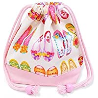 Preisvergleich für Girls Shoes (small size) with gusset bag cup feet Kirari drawstring Gokigen lunch (white) x Ox pink made in Japan N3561600 (japan import)