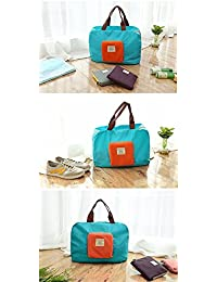 New Folding Reusable Women Fashion Bags Travel Portable Folding Pouch Waterproof Shoulder Bag Street Shopping...