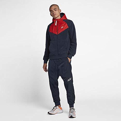 Nike Sportswear Veste Homme, Rouge, Obsidienne (Obsidian/Habanero Red/Sail), S