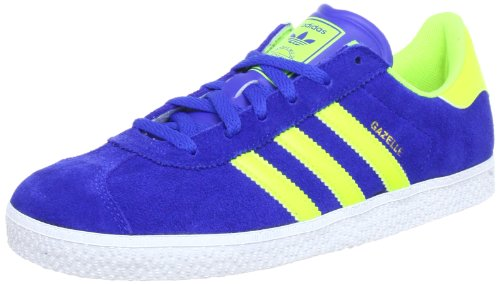 adidas Originals  GAZELLE 2 J, basket mixte enfant Bleu - Blau (TRUE BLUE / ELECTRICITY / RUNNING WHITE FTW)
