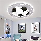 Megcose Deckenleuchte Kinderzimmer Jungen Fußball LED Acryl Deckenleuchte Fußball Kinder Lampe Fußball Kinderzimmer Deckenleuchte Schlafzimmer Rund Babyzimmer Junge (Weißes Licht, 40cm)