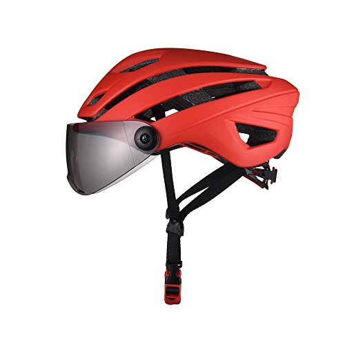 GWJ Fahrradhelm, CE-Zertifizierter, Verstellbarer Fahrradhelm mit Fester Verstellbarer Sonnenblende