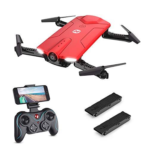 Holy Stone HS160R Faltbare Mini Drohne mit Kamera HD, RC Quadrocopter, Helikopter Ferngesteuert mit FPV 720P Kamera, Live-Video, APP Steuerung, Drohne Indoor Ourdoor für Kinder und Erwachsene