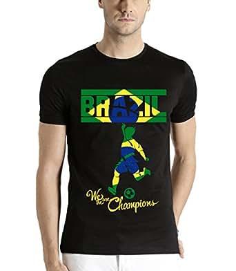 ADRO Men's FIFA Team Brazil Fans T-Shirt Rnrbrz_Black_S