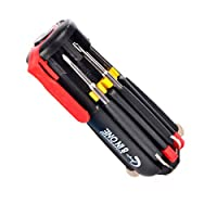 Cdrox Multi-Function 8 in 1 6 LED Flashlight Screwdrivers Home Appliance Car LED Torch Hand Repair Tools