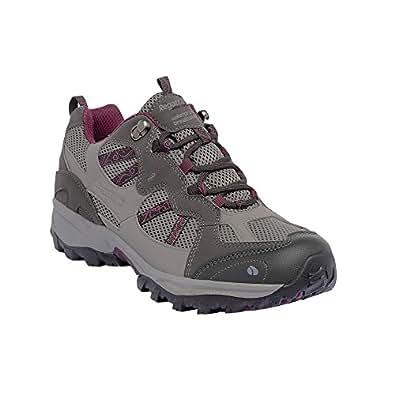 Regatta - Crossland Low Women's Trail Shoe, Lunar Grey / Blackcurrent, 7
