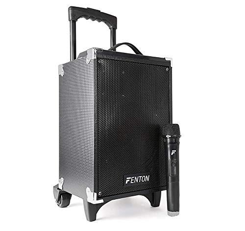 Unbekannt Tragbarer PA-Lautsprecher 8 Zoll mit Bluetooth MP3 USB Kabellos UKW-Funkmikrofon Karaoke im Freien (Kompaktes Aktives Pa-system)