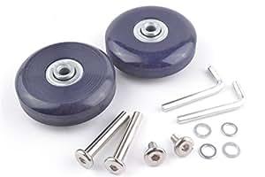 Lot de 2bagages Valise de rechange Roues Essieux Deluxe de réparation diamètre extérieur 56mm # 5