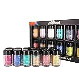 SMILEQ 12 Stücke Schimmern Glitter Lidschatten Pulver Palette Matte Lidschatten Kosmetik Make-Up (12 Color, Mehrfarbig)