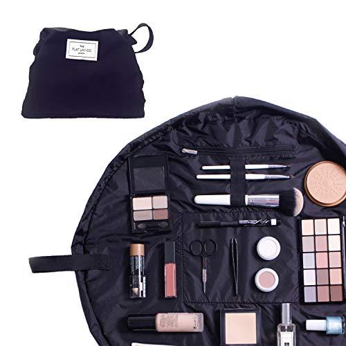 La Trousse de Maquillage de Flat Lay Co. | Ouvre a Plat Trousse de Maquillage Pochette Portable Avec Cordon | Contenu n'est pas Inclu