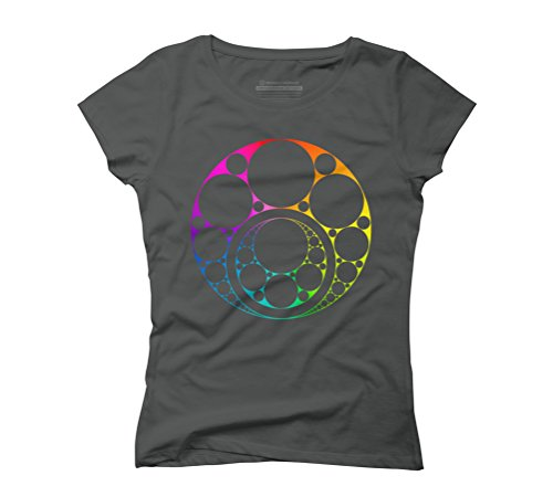 Inner circle full spectrum Women's Graphic T-Shirt - Design By Humans Anthracite