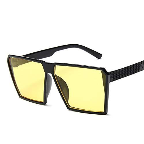 DXXHMJY Sonnenbrillen Sonnenbrille Kind -Mädchen -Jungen -Kind-Gläser PC klar quadratisches Feld UV400 Mode Brillen Qualitäts -im Freien Personalisierte High-End -SonnenbrilleC5Yellow