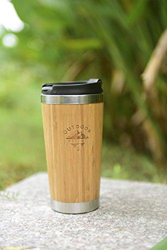 Kaffee Thermobecher aus Bambus von OUTDOOR FREAKZ – 450 ml - 3