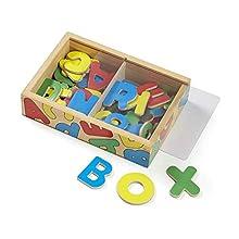 Melissa & Doug Wooden Alphabet Magnets in a Box